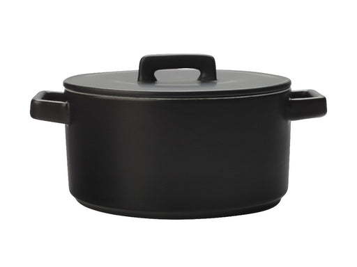 MW Epicurious Round Casserole 2.6L Black Gift Boxed