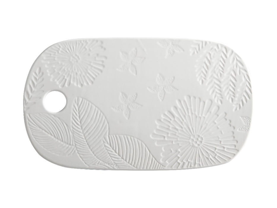 MW Panama Cheese Platter 40x23cm White Gift Boxed