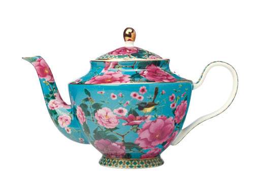 MW Teas & C's Silk Road Teapot with Infuser 1L Aqua Gift Boxed