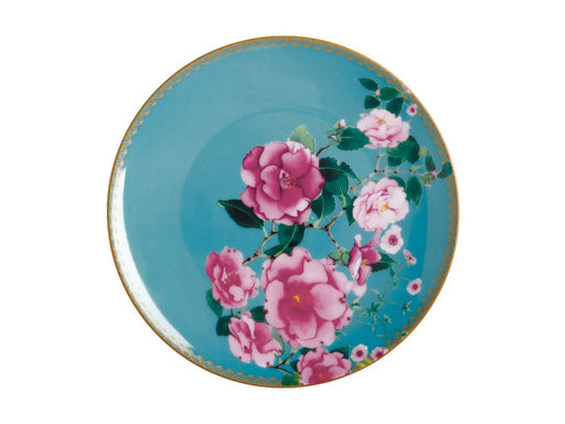 MW Teas & C's Silk Road Coupe Plate 19.5cm Aqua Gift Boxed