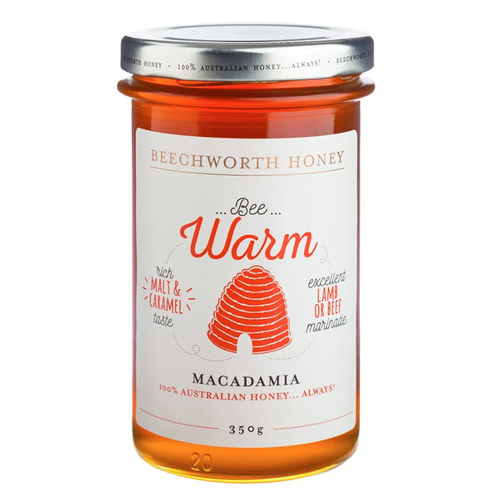 Beechworth Honey Bee Warm Macadamia 350g