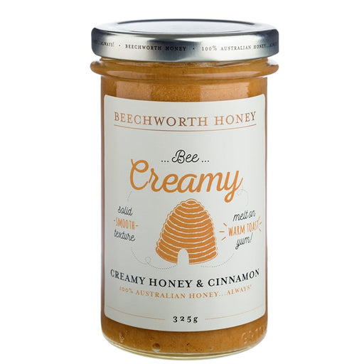Beechworth Honey Bee Creamy Honey and Cinnamon 325g