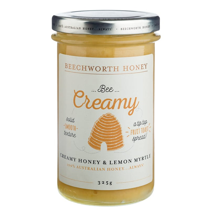 Beechworth Honey Bee Creamy Honey and Lemon Myrtle 325g