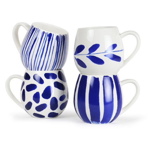 Robert Gordon Hug Mug Set of 4 - Indigo Brush