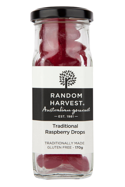 Random Harvest Trad Raspberry Drops 170gm