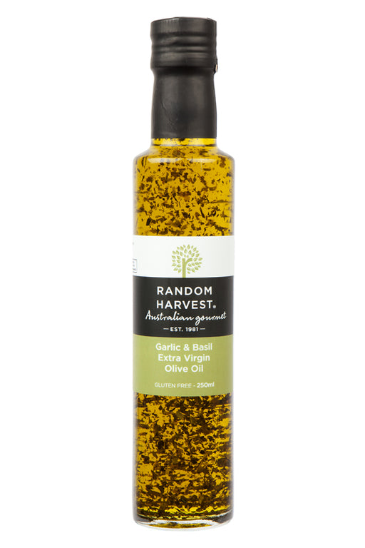 Random Harvest Virgin Olive Oil 250ml - Garlic & Basil