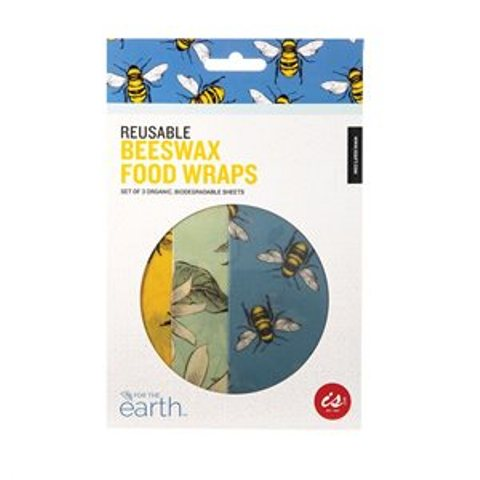 IS Reusable Beeswax Food Wraps - Set of 3