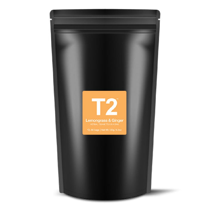 T2 Tea Bags Foil 60pk - Lemongrass & Ginger