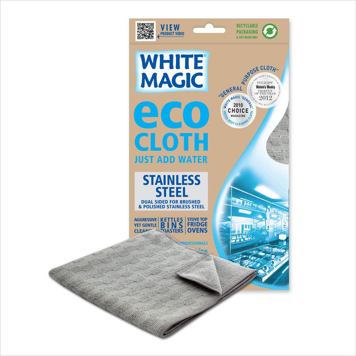 White Magic Microfibre Eco Cloth - Stainless Steel