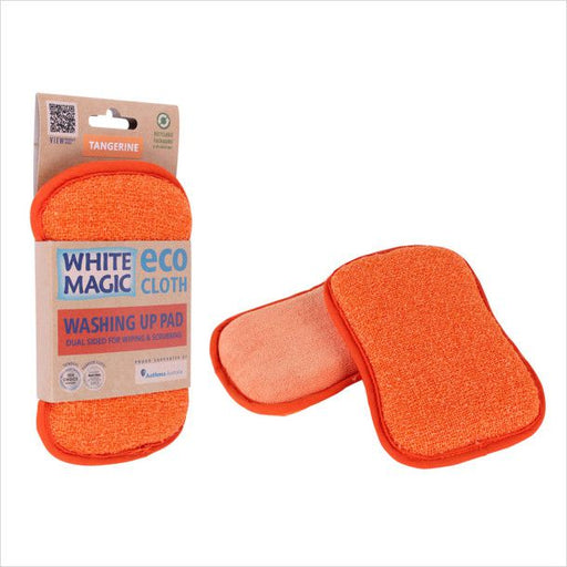 White Magic Washing Up Pad - Tangerine