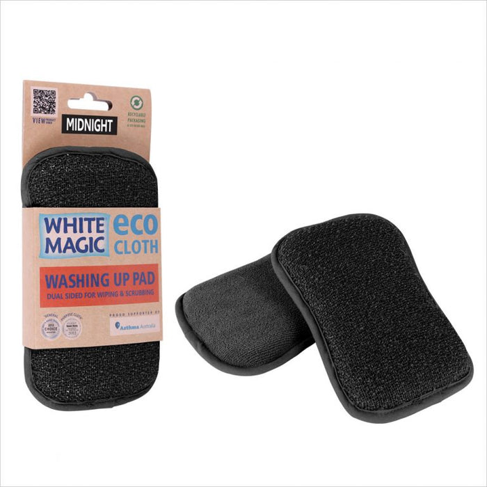 White Magic Washing Up Pad - Black