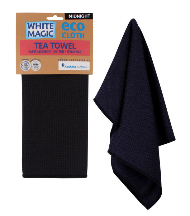 White Magic Tea Towel Eco Cloth - Midnight