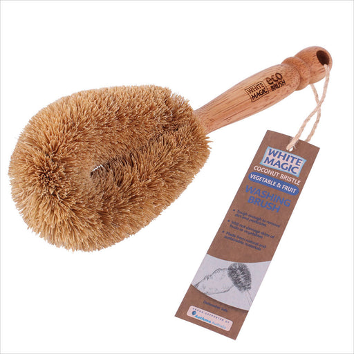 White Magic Coconut Bristle Vegetable Brush