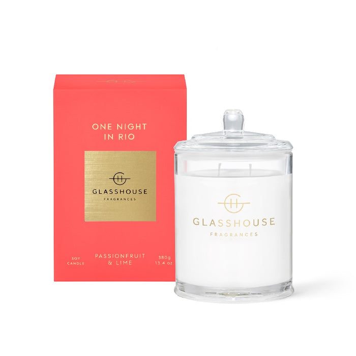 Glasshouse Candle 350g - One Night in Rio