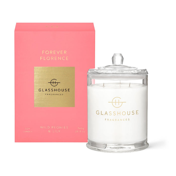 Glasshouse Candle 700g - Forever Florence