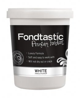 Fondtastic Rolled Fondant 908g - Vanilla Flavoured - White