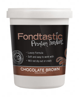 Fondtastic Rolled Fondant 908g - Vanilla Flavoured - Chocolate Brown