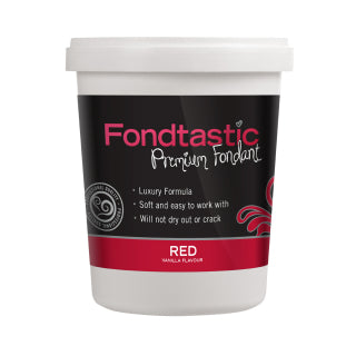 Fondtastic Rolled Fondant 908g - Vanilla Flavoured - Red