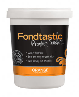 Fondtastic Rolled Fondant 908g - Vanilla Flavoured - Orange