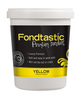 Fondtastic Rolled Fondant 908g - Vanilla Flavoured - Yellow