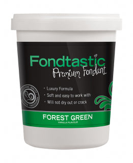 Fondtastic Rolled Fondant 908g - Vanilla Flavoured - Forest Green