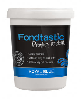 Fondtastic Rolled Fondant 908g - Vanilla Flavoured - Royal Blue