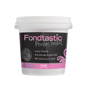 Fondtastic Rolled Fondant 226g - Vanilla Flavoured - Pink