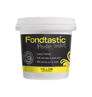 Fondtastic Rolled Fondant 226g - Vanilla Flavoured - Yellow