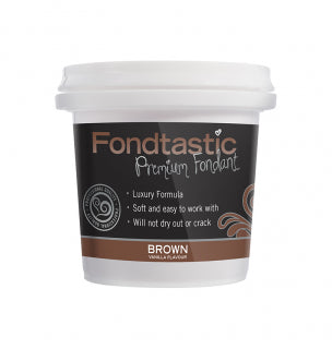 Fondtastic Rolled Fondant 226g - Vanilla Flavoured - Brown