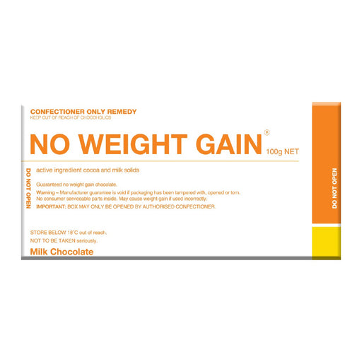 No Weight Gain Chocolate 100g - Milk