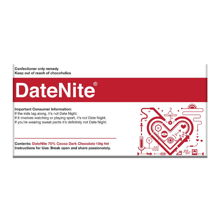 Date Nite Chocolate 100g - Dark
