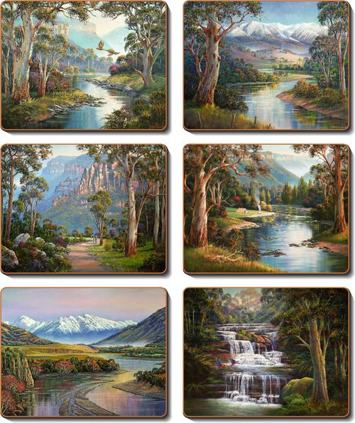 Cinnamon 'Away from it All' Coasters Set of 6