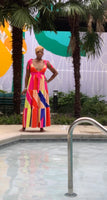 Colorful Wrap Maxi Dress