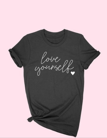 LOVE YOURSELF TEE BLACK