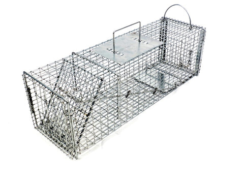 Tomahawk 605SS Pro Skunk Trap with One Trap Door and Rear Access Door 7x7