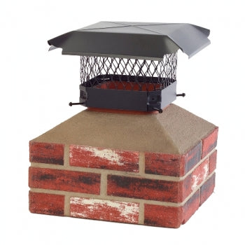 "HY-C Draft King 13""x13"" Galvanized Chimney Cap-Black"