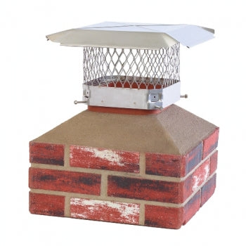 "HY-C Draft King 13""x13"" Stainless Chimney Cap"