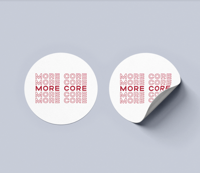 More Core Sticker
