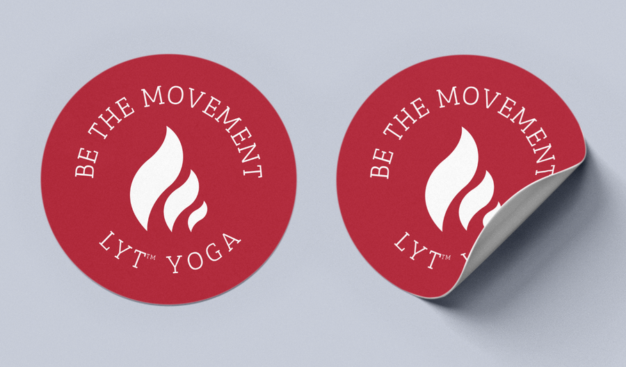 Be the Movement Red Sticker