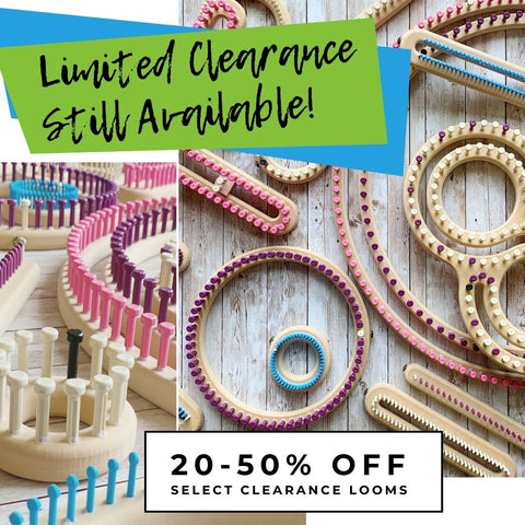 Limited Clearance Available, Knitting Looms