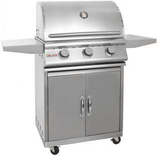 Blaze 25 Inch 3-Burner Natural Gas Grill on Cart