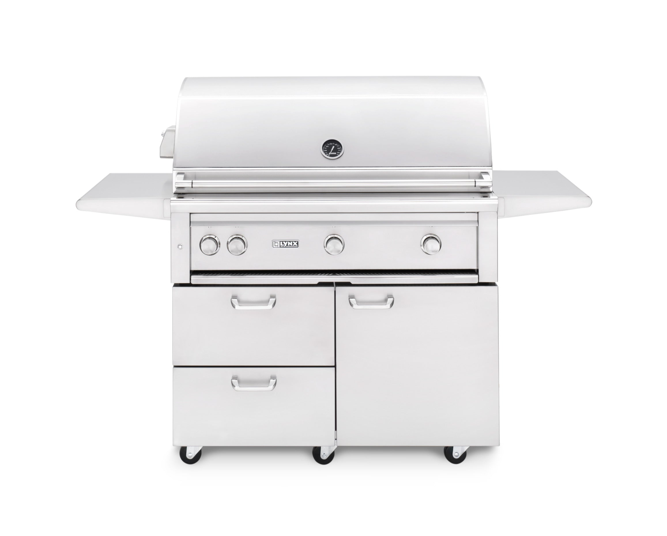 Lynx 42 Inch Gas Grill On Cart With 1 Trident Burner And Rotisserie-NG