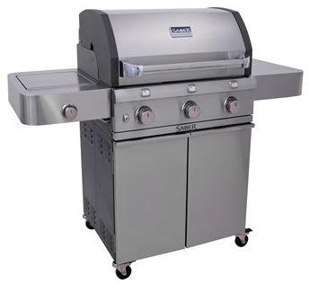 Saber 500 LP Cast Gas Grill with Stainless Insert Grill