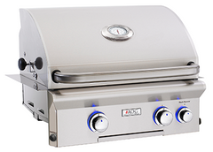 "24"" American Outdoor Grill L-Series Built-In Grill w/ Lights and Rotisserie, Natural Gas"