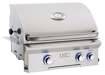 "24"" American Outdoor Grill L-Series Built-In Grill w/ Lights and Rotisserie, Liquid Propane"