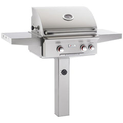 "24"" American Outdoor Grill T-Series On In-Ground Post Mount Grill, Liquid Propane"