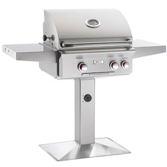 "24"" American Outdoor Grill T-Series On Patio Post Mount Grill w/ Rotisserie, Natural Gas"