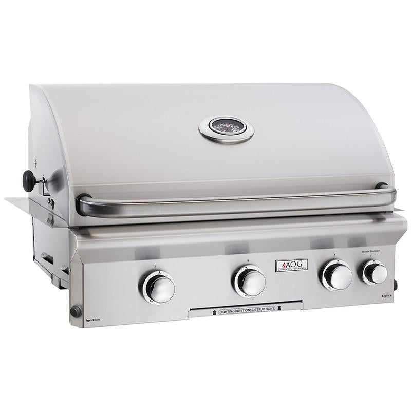 "30"" American Outdoor Grill L-Series Built-In Grill w/ Lights and Rotisserie, Liquid Propane"