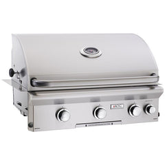 "30"" American Outdoor Grill L-Series Built-In Grill w/ Lights and Rotisserie, Natural Gas"