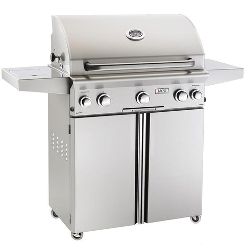 "30"" American Outdoor Grill L-Series On Cart Grill w/ Lights and Rotisserie, Natural Gas"